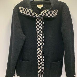 Talbots black jacket women's size large